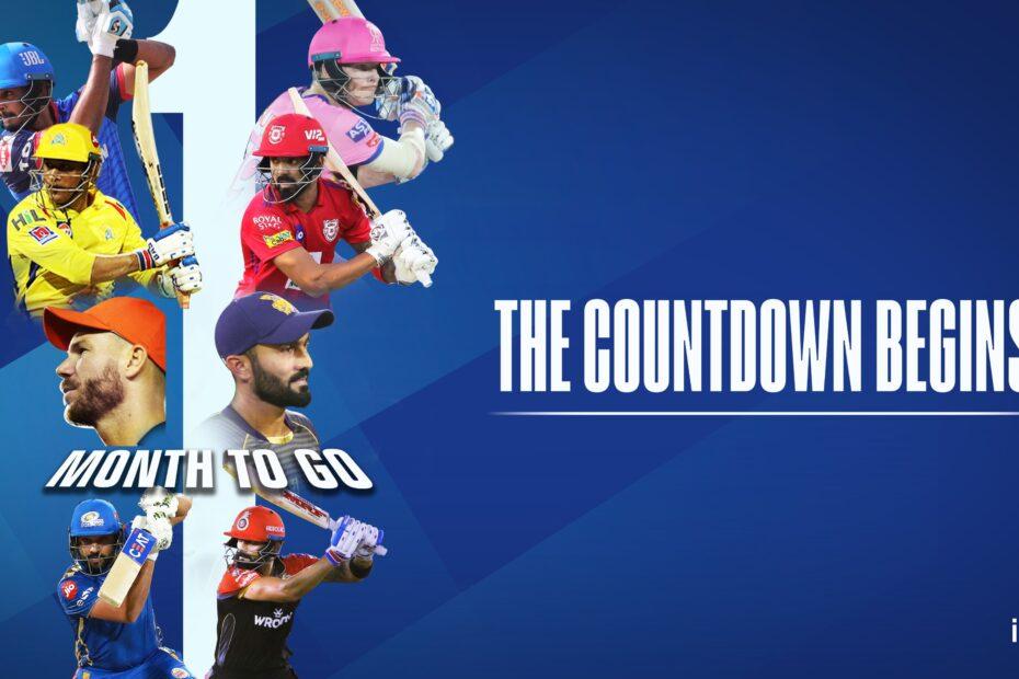 IPL 2020 Countdown UAE