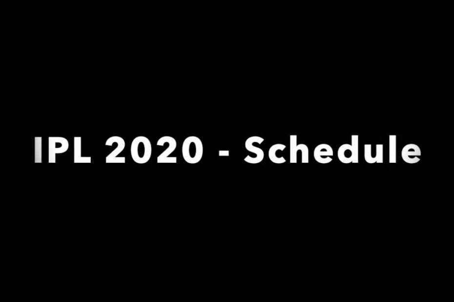 IPL-Schedule-2020-UAE